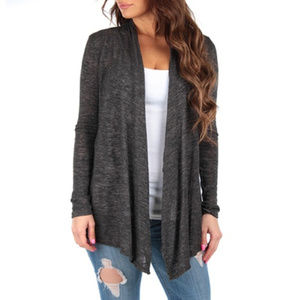 Open Front Draped Hacci Cardigan XL